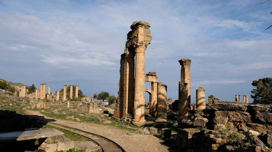 A view of the ancient ruins of the Greek and Roman city of Cyrene, in Shahhat, Libya, on February 9, 2019. (Reuters)