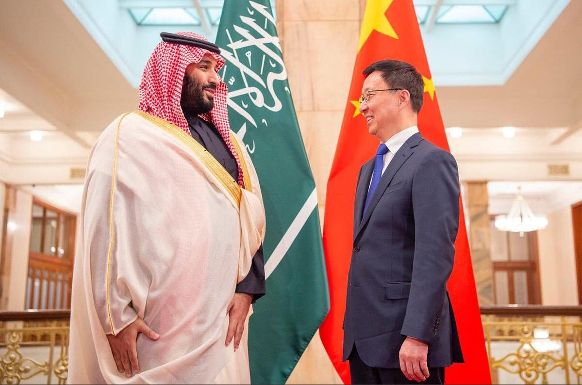 Crown Prince Mohammed bin Salman with Vice-Premier of China, Han Zheng. (Supplied)