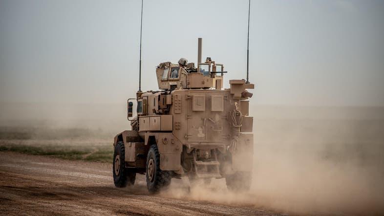 عربة لجنود أميركيون في دير الزور (أرشيفية)