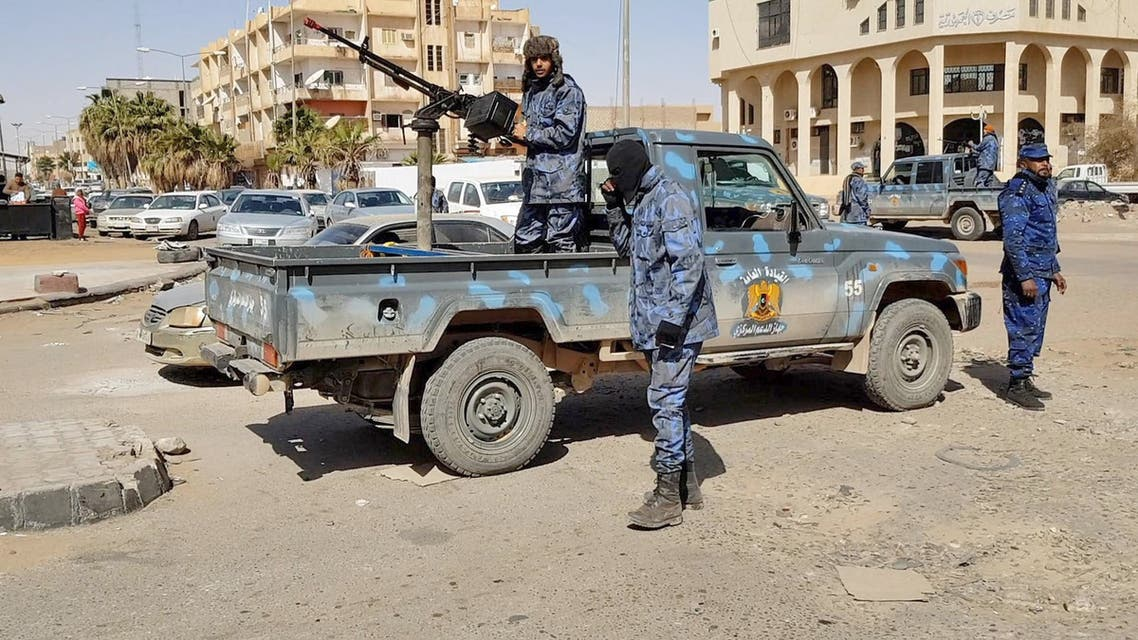 An image grab taken from a video from AFPTV, on February 6, 2019, shows Forces loyal to Libyan strongman Khalifa Haftar patroling in downtown Sebha, the biggest city in southern Libya. A power struggle between the UN-backed government in Tripoli and a parallel cabinet supported by Haftar's self-styled Libyan National Army (LNA) in the east have left the country's vast desert south a lawless no-man's land.
