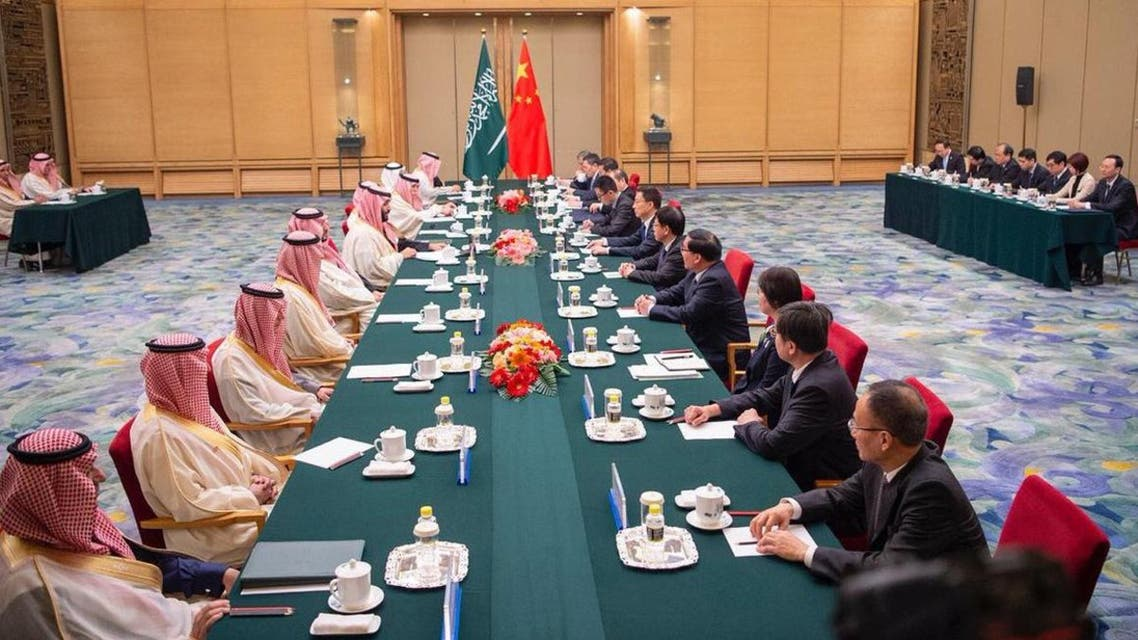 Crown Prince Mohammed bin Salman and Vice-Premier of China chaired the third meeting of the Saudi-Chinese High-Level Committee. (Supplied)