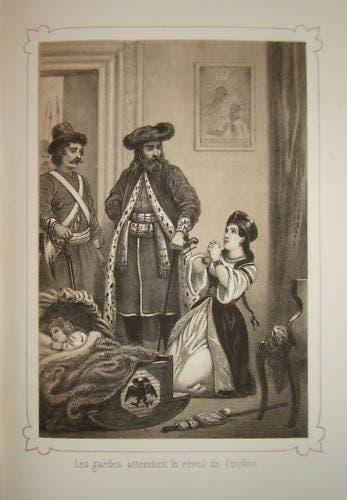 رسم ساخر يجسد عملية اعتقال الطفل إيفان السادس