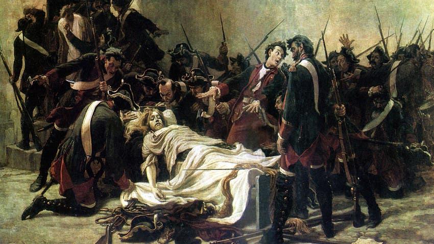 لوحة تجسد جثة إيفان السادس عقب إعدامه