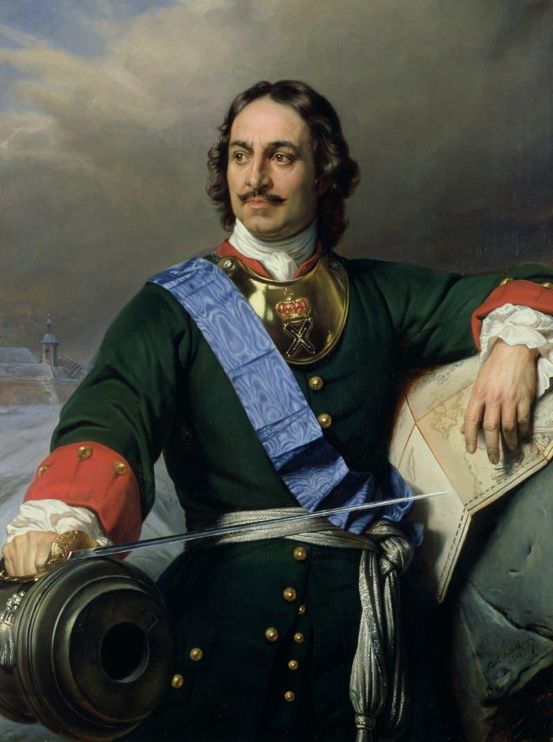 صورة لإمبراطور روسيا بطرس الأكبر