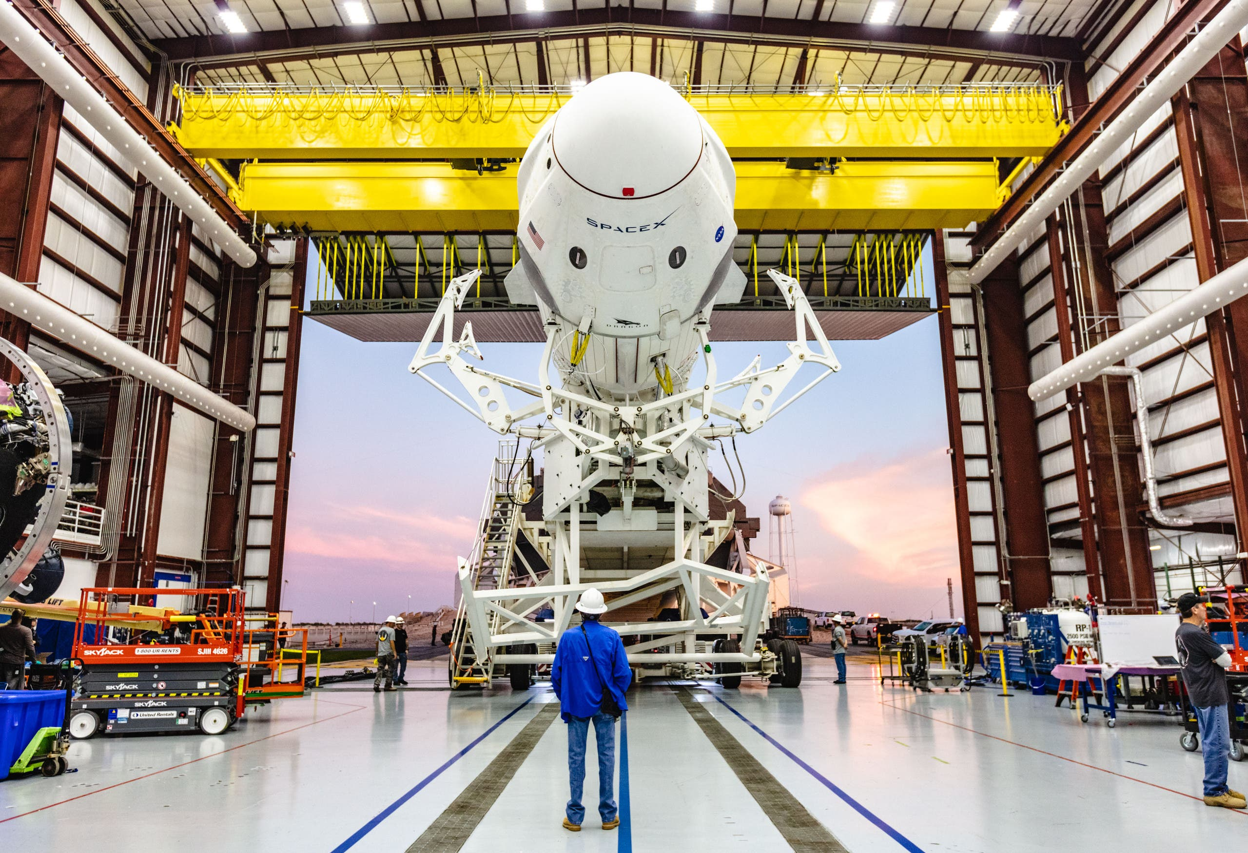 In this file photo taken on January 29, 2019 and obtained from NASA shows the SpaceX Falcon 9 rocket with the company's Crew Dragon attached (AFP)