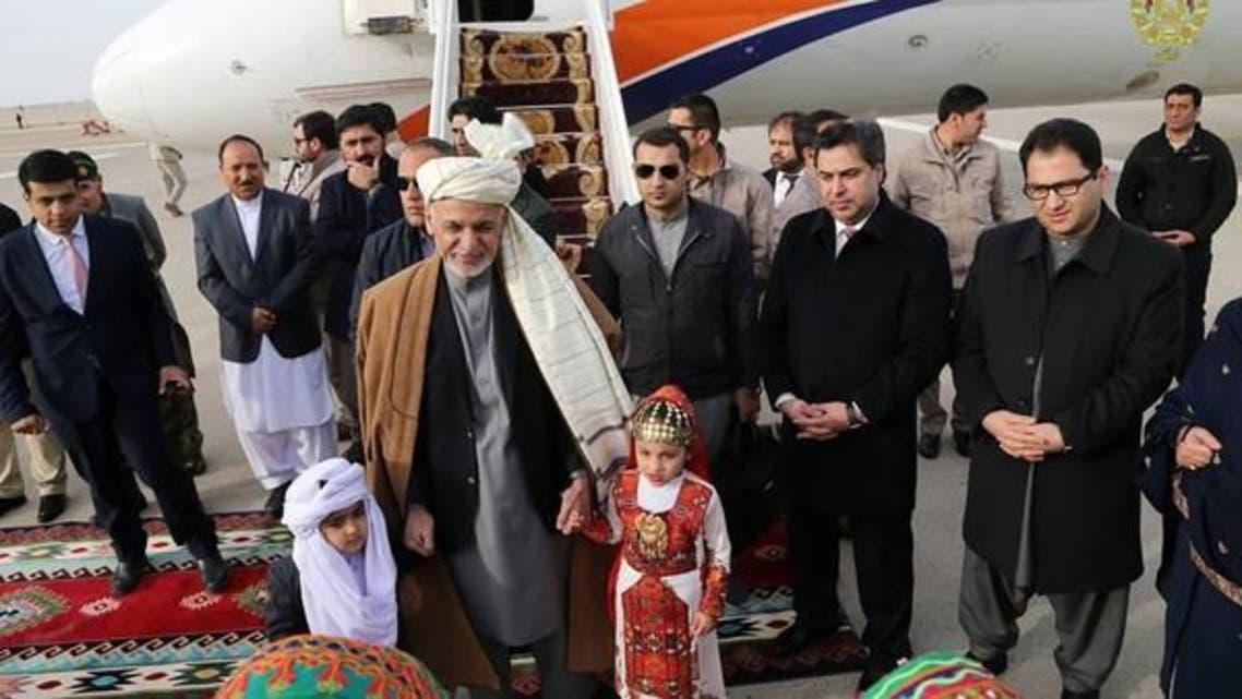 محمد اشرفغنی اولین محموله صادراتی افغانستان از طریق بندر چابهار را افتتاح کرد