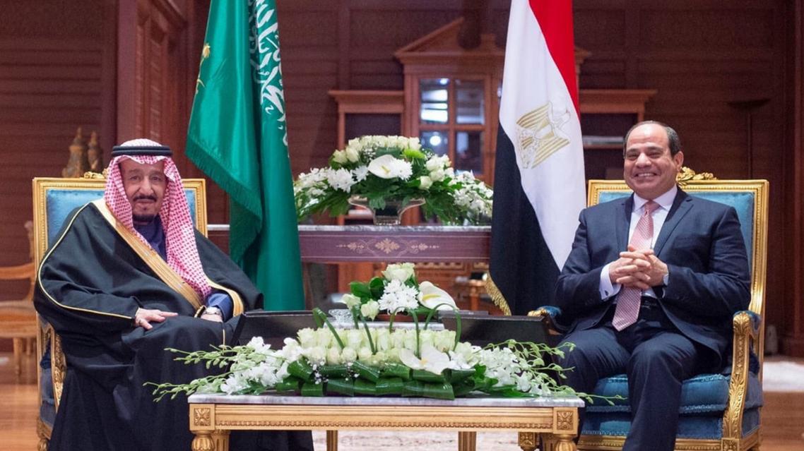 Saudi King Salman and Egypt President Andelfattah el-Sisi. (Saudi Ministry of Media)