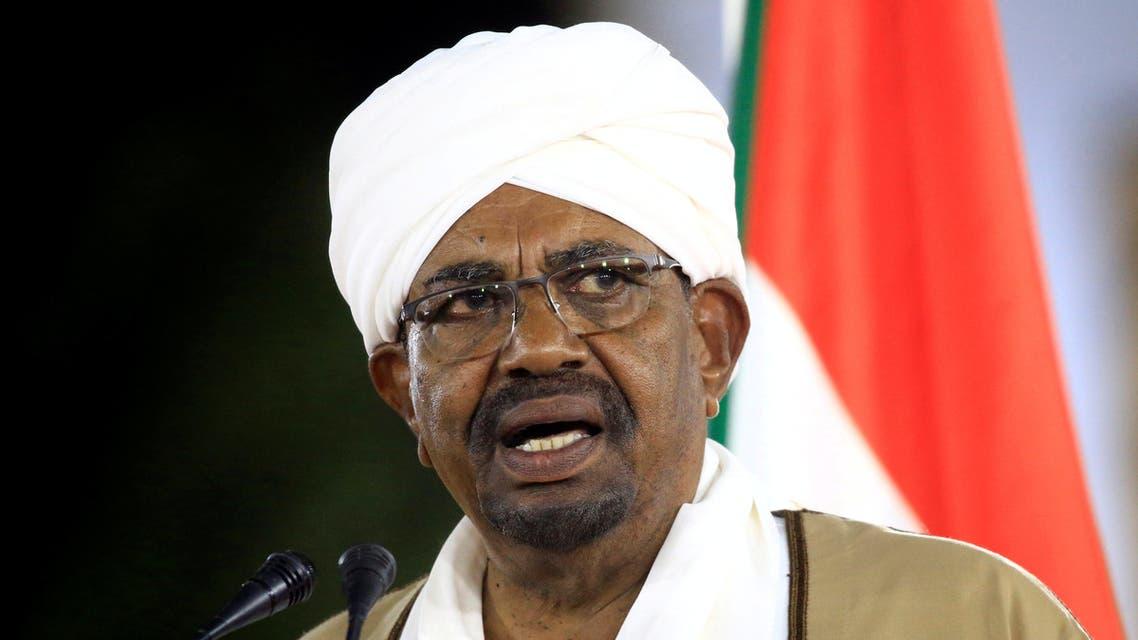 FILE PHOTO: Sudan's President Omar al-Bashir delivers a speech at the Presidential Palace in Khartoum, Sudan, February 22, 2019. REUTERS/Mohamed Nureldin Abdallah/File Photo