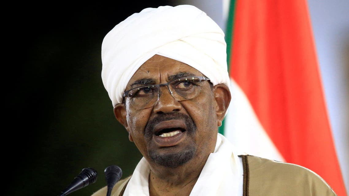 FILE PHOTO: Sudan's President Omar al-Bashir delivers a speech at the Presidential Palace in Khartoum, Sudan, February 22, 2019. REUTERS/Mohamed Nureldin Abdallah/File Photo