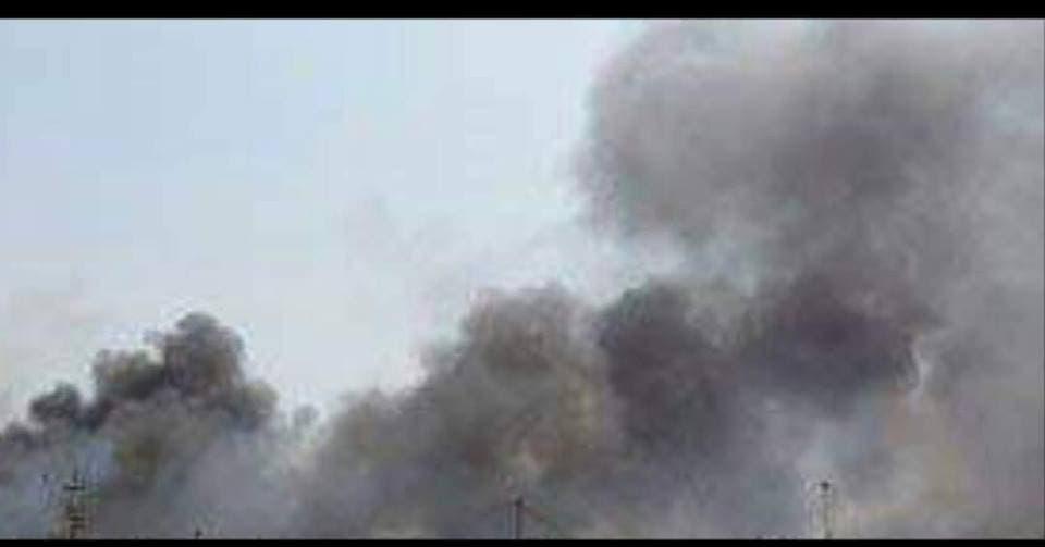 من قصف الحوثيين على مناطق حجور