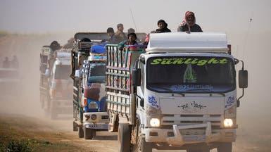 استئناف إجلاء المحاصرين من جيب داعش في الباغوز
