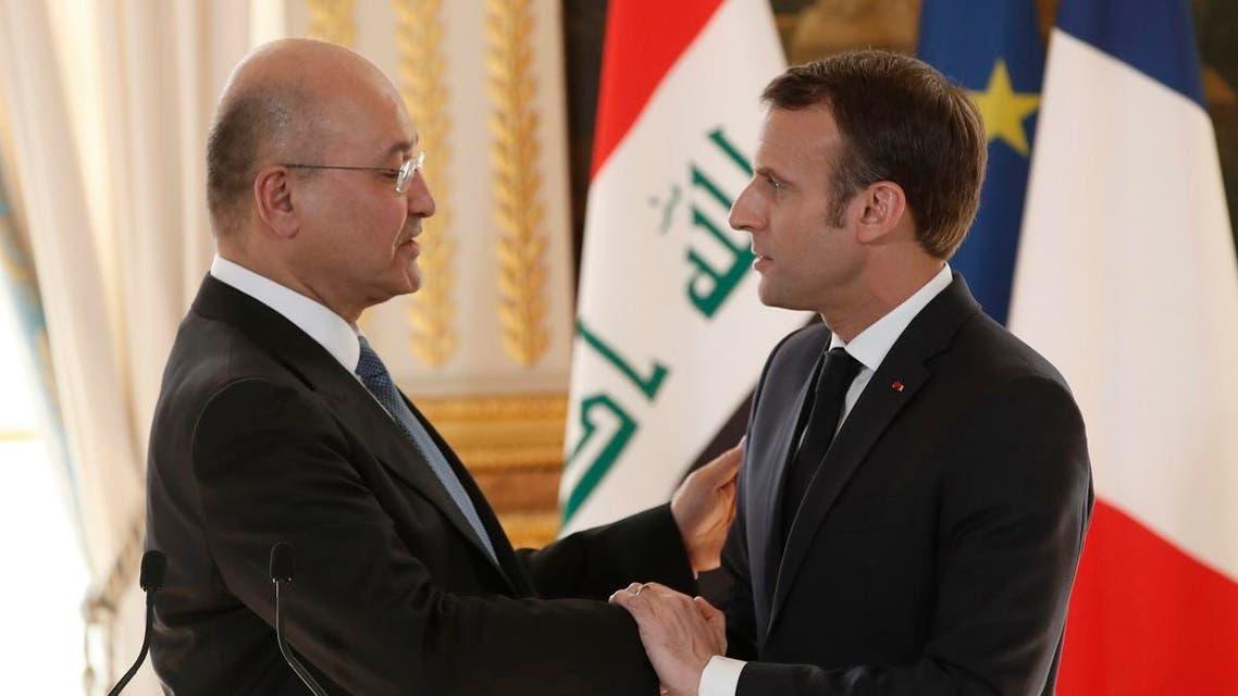 MACRON AND SALEH IN PARIS (AFP)