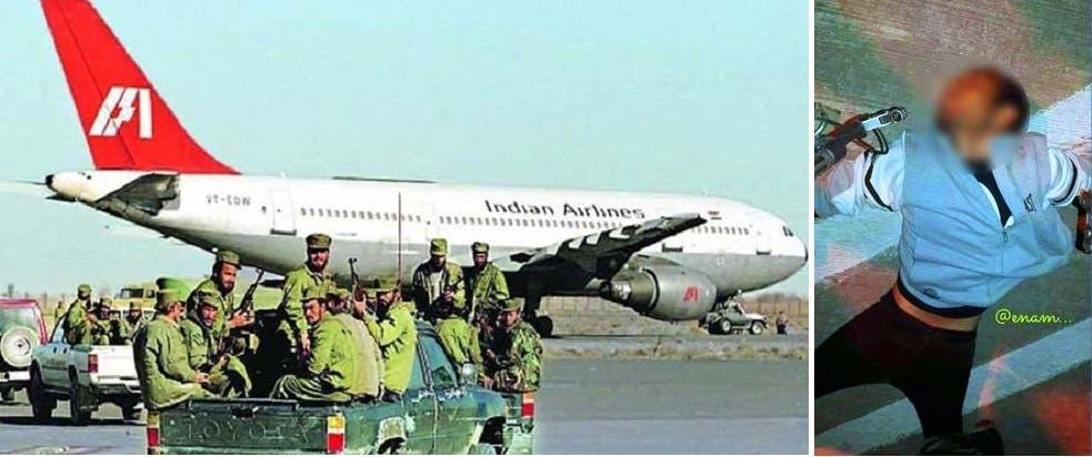 جثته ملقاة على مدرج المطار، والكوماندوس وهم متوجهون لاقتحام الطائرة