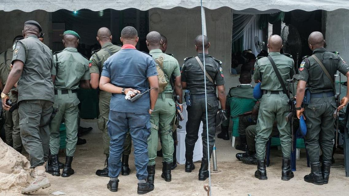 Police officers listen to the report of the aggregattion total of votes at Rivers State collation centre in Port Harcourt, Southern Nigeria, on February 25, 2019. (AFP)