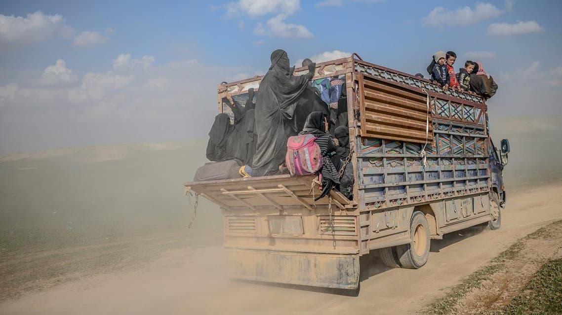 Syria SDF evacuation ISIS Baghouz (AFP)