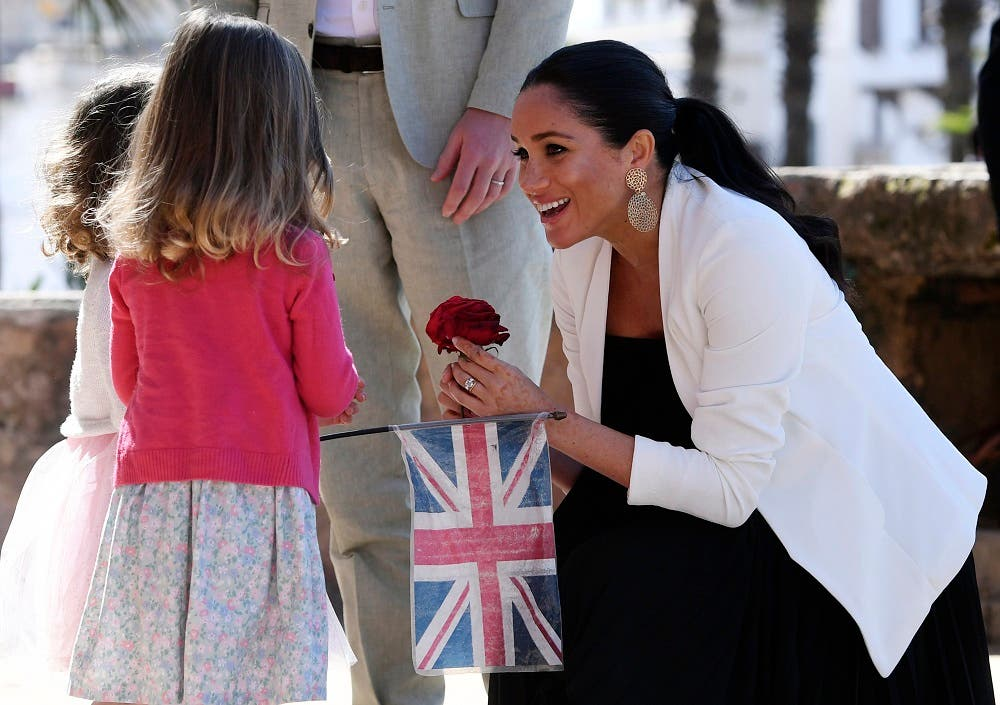 The brief visit to Morocco is expected to be Meghan's last international trip before she gives birth ap