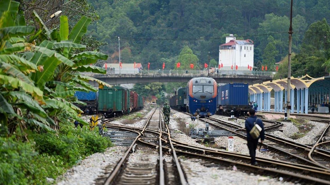 north korea kim train to vietnam summit (AFP)