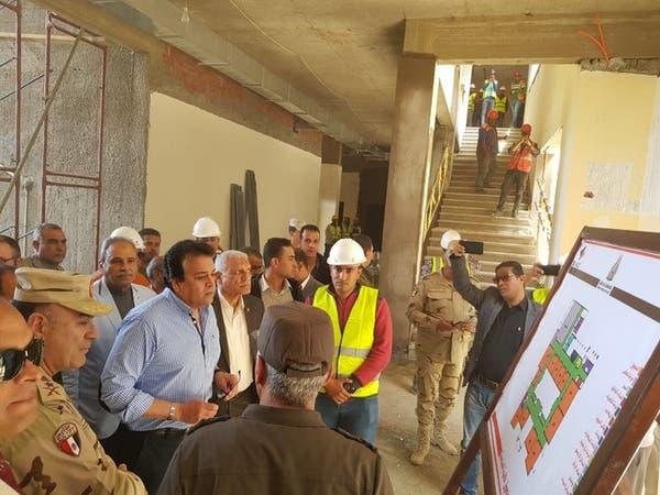 صور.. وزير مصري يتفقد آخر تطورات جامعة الملك سلمان
