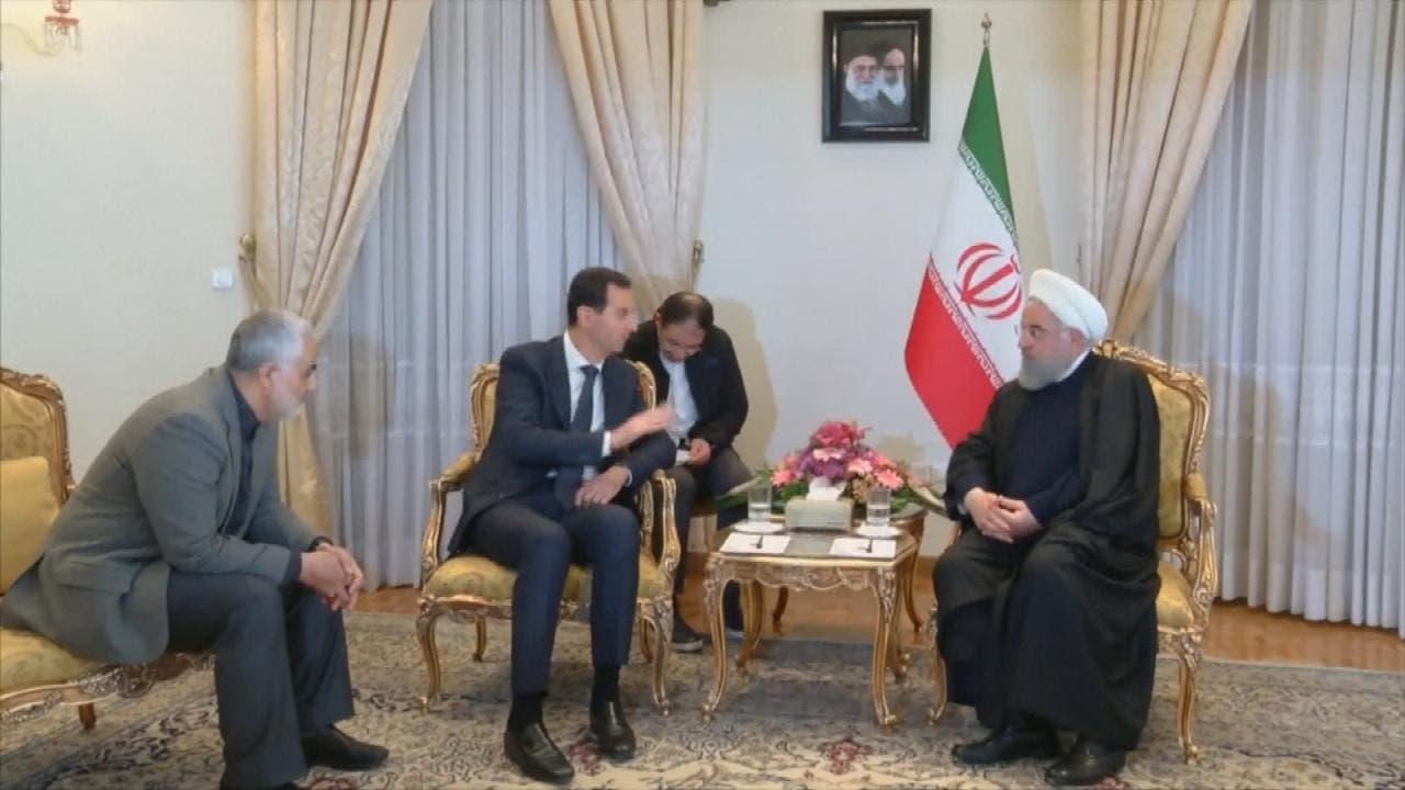 حضور قاسم سلیمانی در جریان دیدار حسن روحانی و بشار اسد