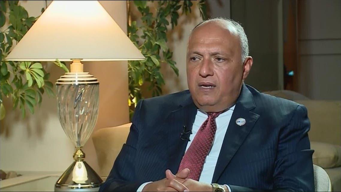 سامح شكري يتحدث للعربية عن كواليس شرم الشيخ بشأن إيران