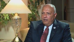 وزير خارجية مصر: لنا حدود برية وبحرية مع ليبيا