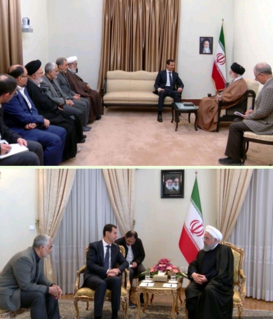 غياب واضح لجواد ظريف عن اجتماعات الأسد في طهران