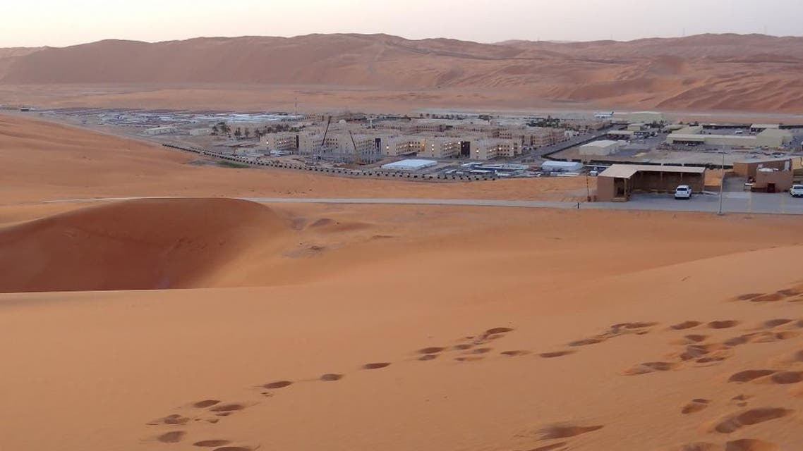 The base for Saudi Aramco's Natural Gas Liquids plant and oil production in the surrounding Shaybah field. (AFP)