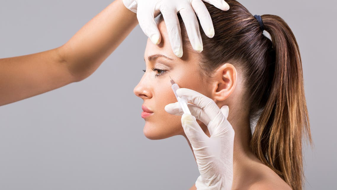 Treatment with botox. - Stock image