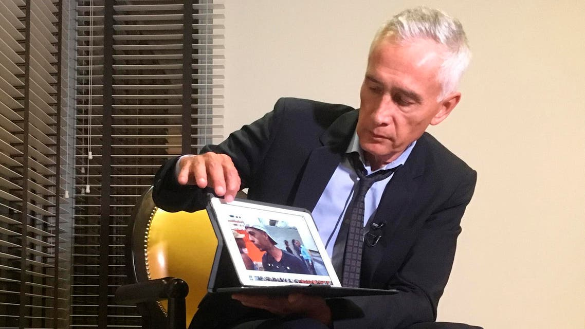 Jorge Ramos shows the video he played for Maduro during the interview on Monday, February 25, 2019. (AP)