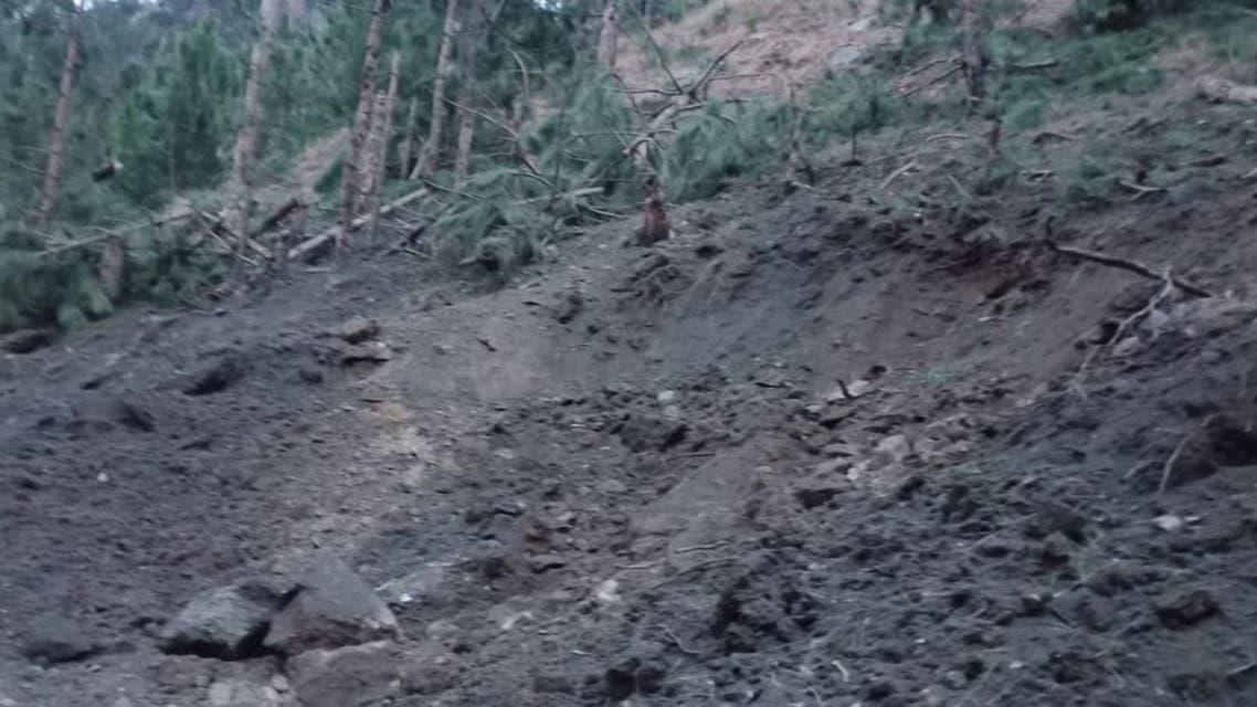 صورة نشرها المتحدث عن مان سقوط حمولة الطائرات الهندية