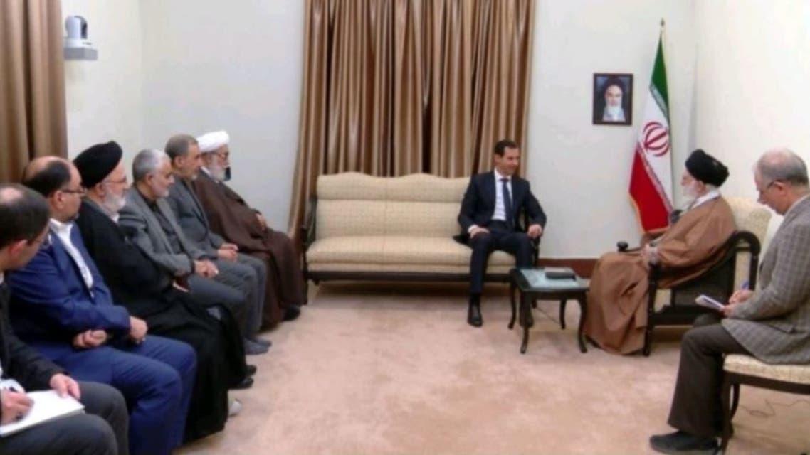 سليماني حاضر لقاء الأسد و خامنئي