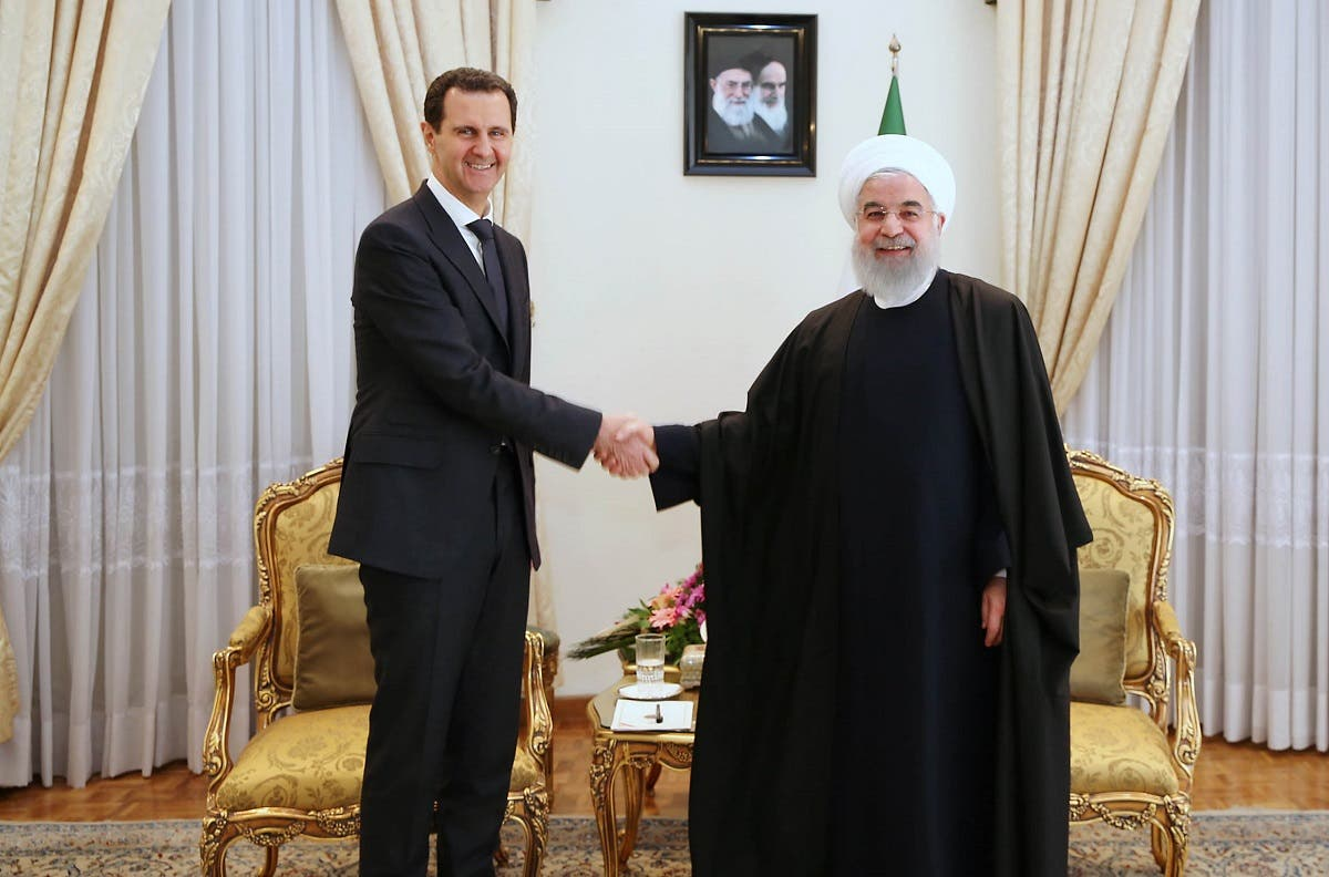 Assad and Rouhani in Tehran Feb. 25, 2019 (AFP)