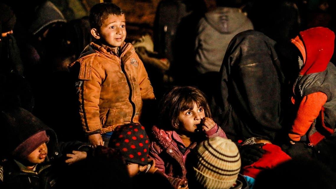 أطفال تم إخلاؤهم من مناطق داعش في سوريا