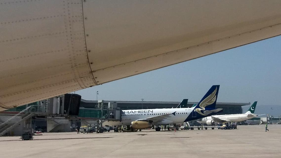 Planes sit on the tarmac at the Islamabad International Airport. (AFP)