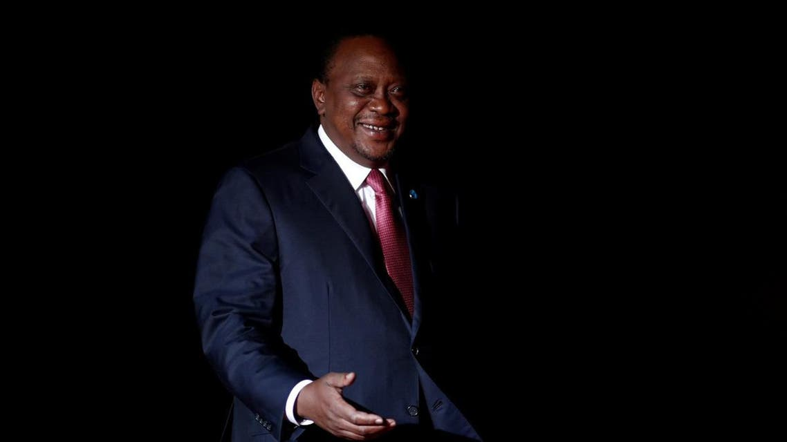Kenyan President Uhuru Kenyatta arrives to attend a visit and a dinner at the Orsay Museum in Paris. (Reuters)