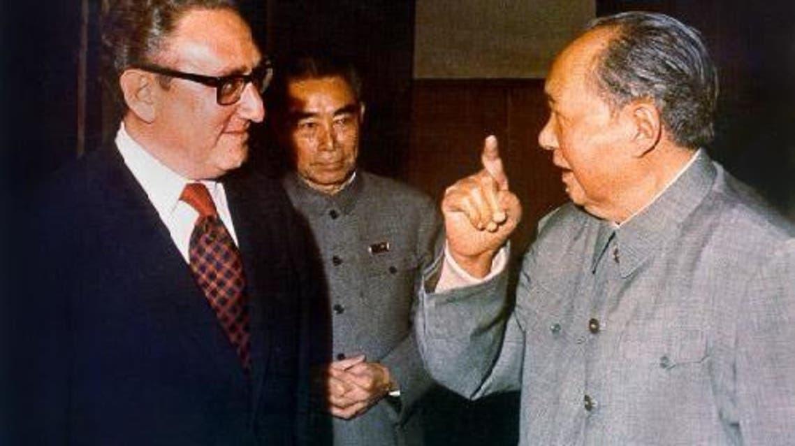 صورة للقاء ماو تسي تونغ وكسنجر سنة 1973