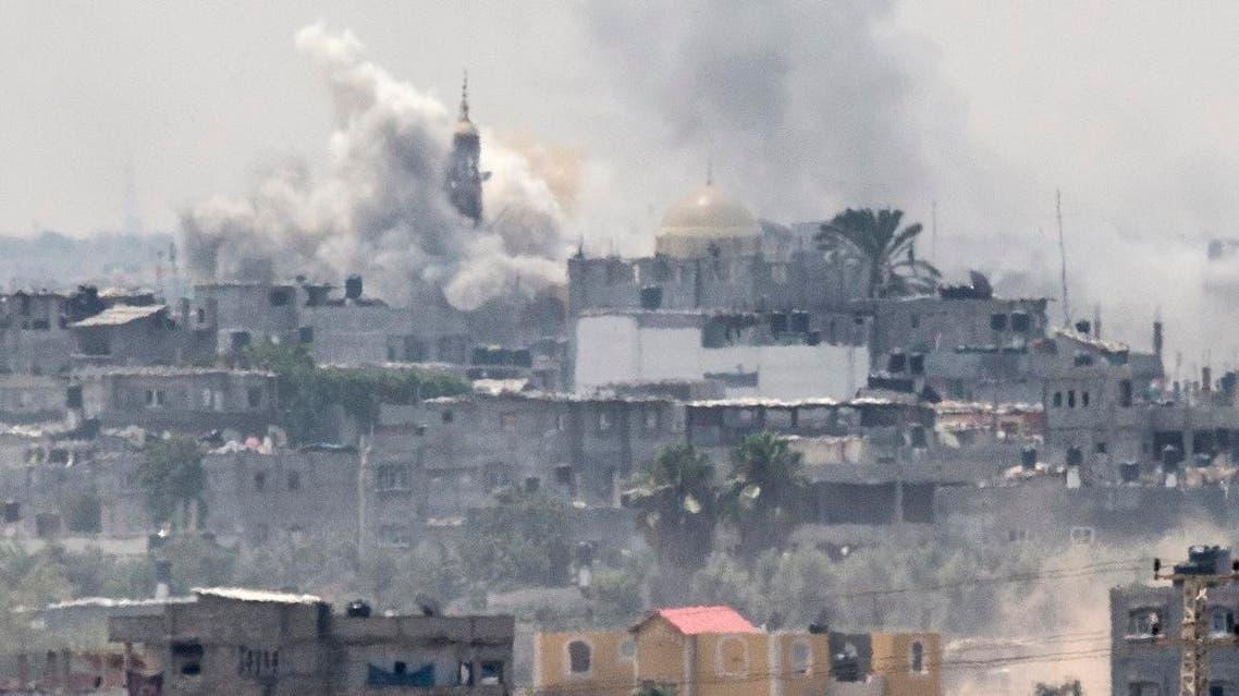 Israeli shelling Gaza (AFP)