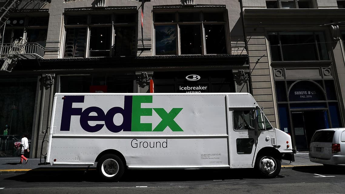 A FedEx delivery truck parked in San Francisco on June 21, 2016. (AFP)