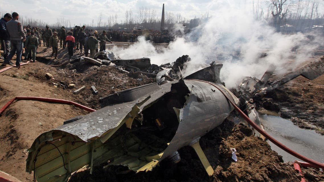 الطائرة الهندية التي أسقطت(27 فبراير- رويترز)