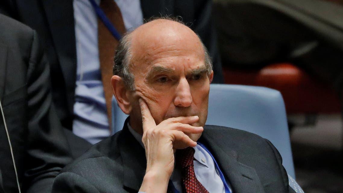 السفير الأميركي في مجلس الأمن خلال جلسة التصويت حول مشروع القرار