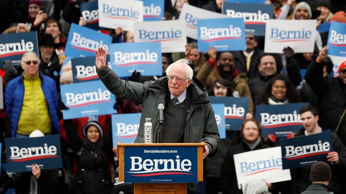 US Presidential Candidate and Vermont Senator Bernie Sanders speaks at a rally in New York. (Reuters)