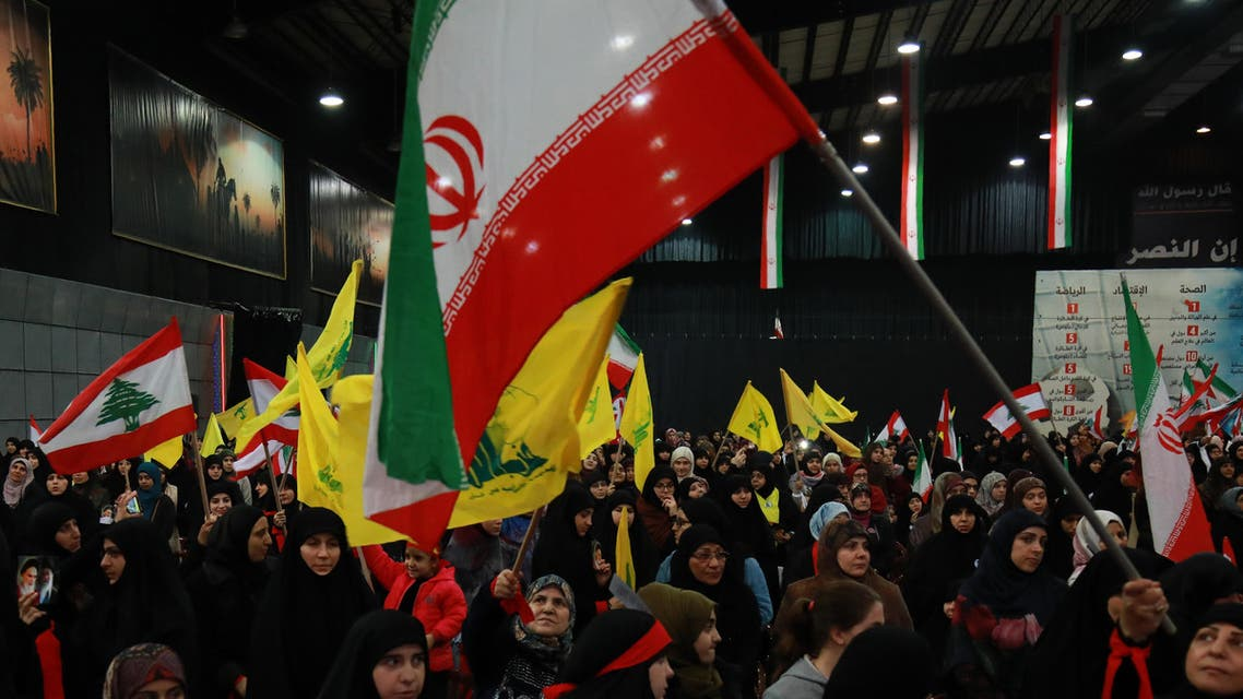 Supporters of Hezbollah wave national, Iranian as well as the movement's yellow flag during celebrations in Beirut, Feb. 6, 2019. (File Photo: Reuters)