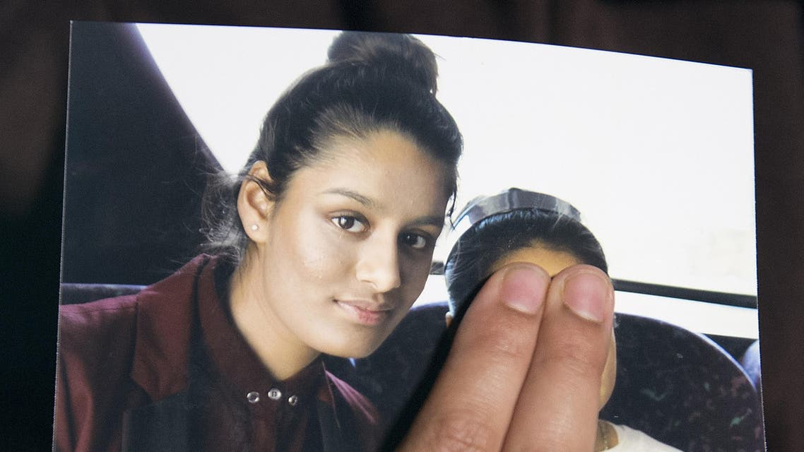 A picture of British teenager Shamima Begum who went to Syria and married an ISIS militant. (AFP)