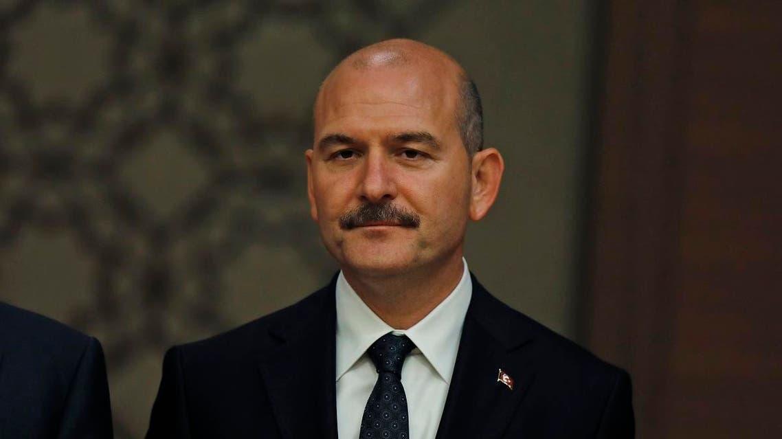Turkey interior minister Suleyman Soylu. (AP)