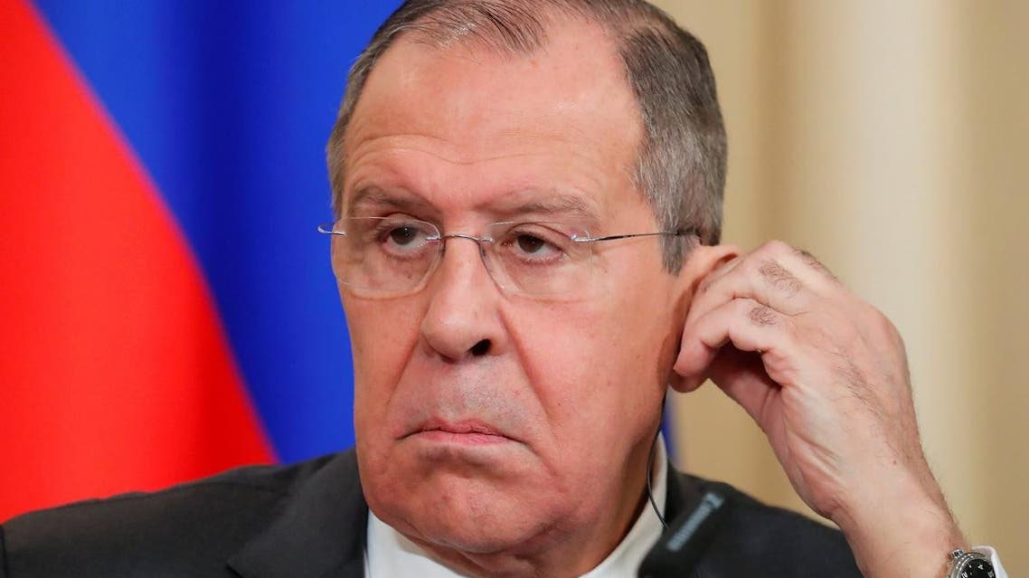 Russian Foreign Minister Sergei Lavrov attends a joint news conference with Venezuela's Vice President Delcy Rodriguez in Moscow. (Reuters)