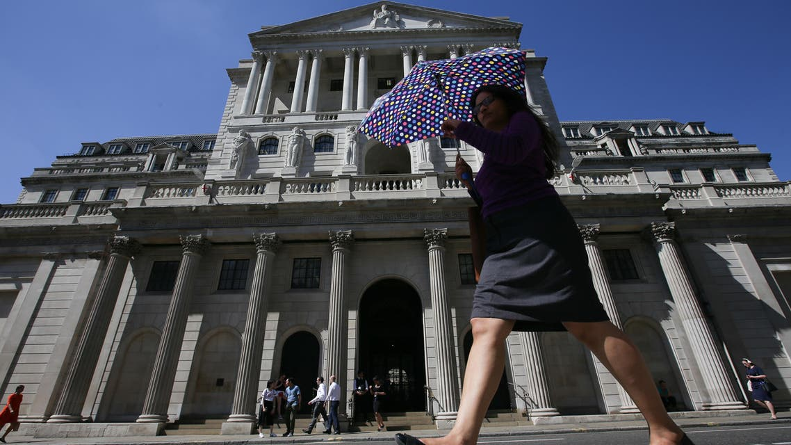 Bank of England in the City of London on August 2, 2018. (AFP)
