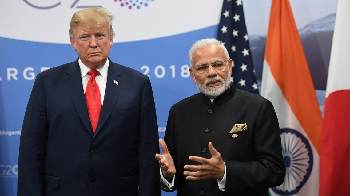 President Trump and Prime Minister Modi during the G20 Leaders' Summit in Buenos Aires, on November 30, 2018. (AFP)