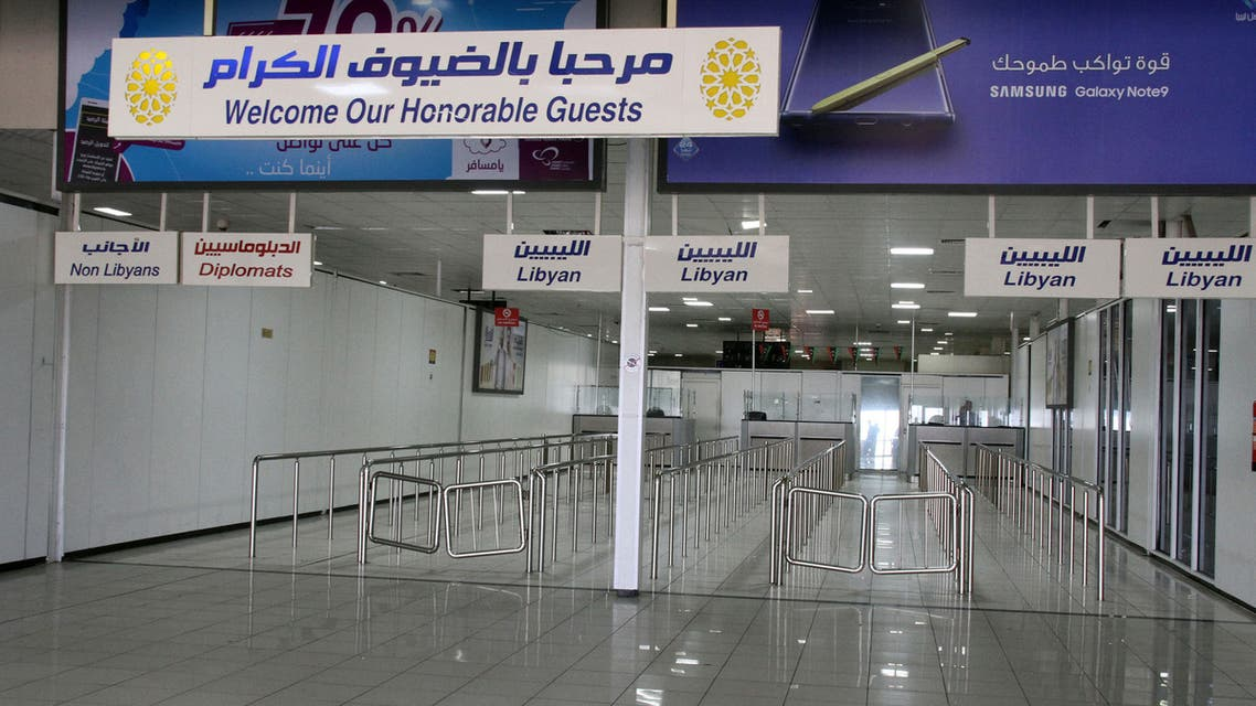 A view shows the empty Mitiga International Airport on September 4, 2018, in the Libyan capital of Tripoli, after it was suspended due to the clashes in the city and transferred the flights to the western city of Misrata. Fighting in and around the Libyan capital has displaced thousands of people, the government said today as the UN prepared to host talks seeking to halt the violence.