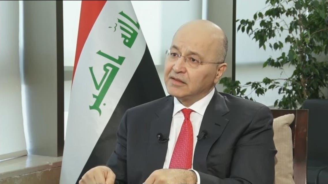 برهم صالح للحدث: القضاء العراقي سيتولى ملف المقاتلين الفرنسيين