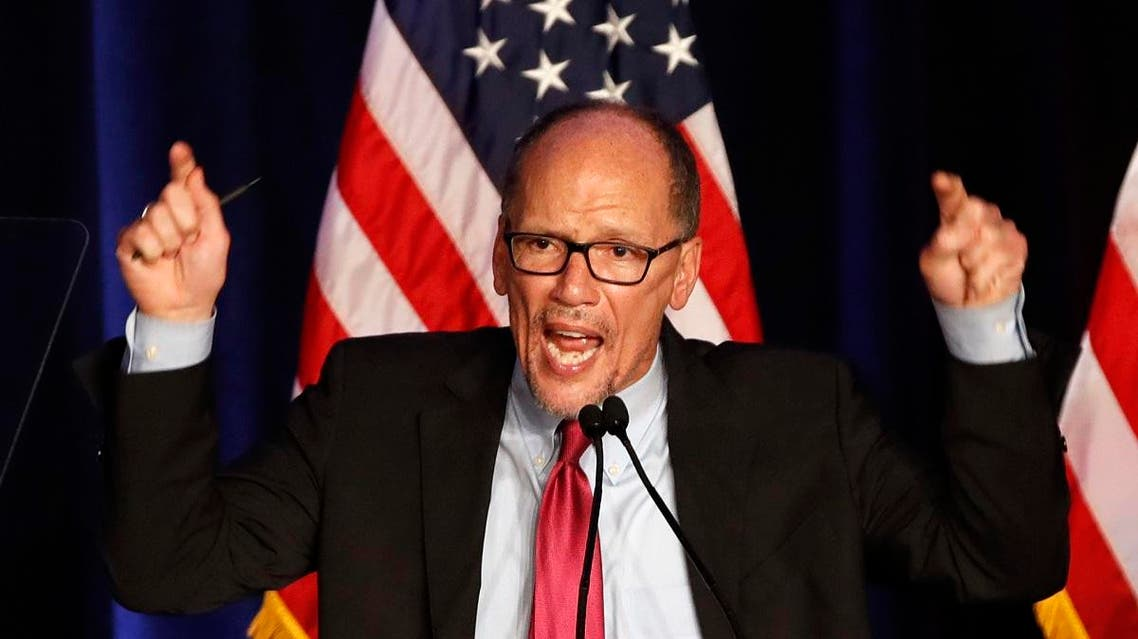 File photo of Tom Perez, Chairman of the US Democratic National Committee. (AP)